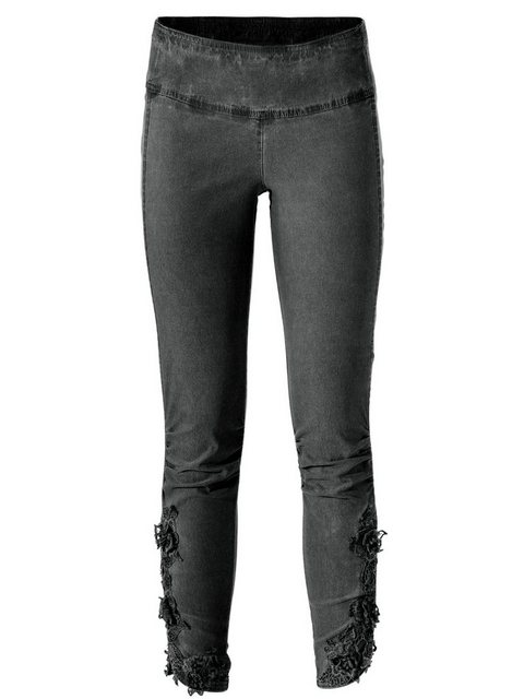 Hosen - ASHLEY BROOKE by Heine Leggings mit Spitzenbesatz › grau  - Onlineshop OTTO