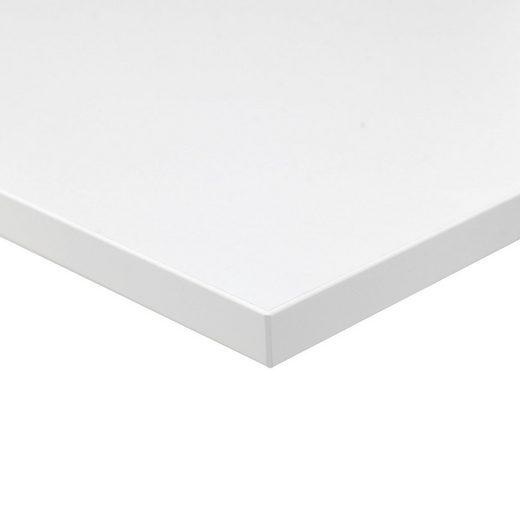 boho office® Schreibtischplatte, melaminharz beschichtet, seidenmatter Glanz, hohe kratzfest, pflegeleichte Oberfläche, 2mm ABS Kante