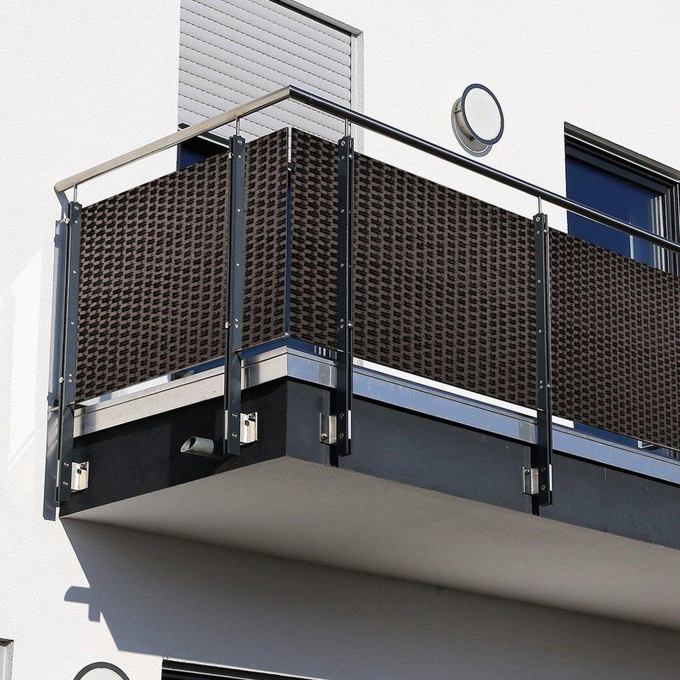 dynamic8 Balkonsichtschutz Polyrattan PVC Sichtschutzmatte 8x8 Balkon  Sichtschutz Zaun Windschutz online kaufen   OTTO