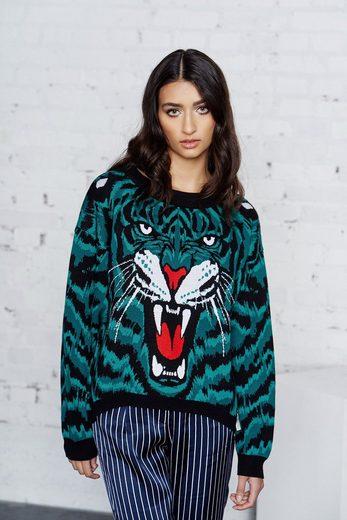 Cotton Candy Sweatshirt mit auffälligem Strickmuster »KAUNI«