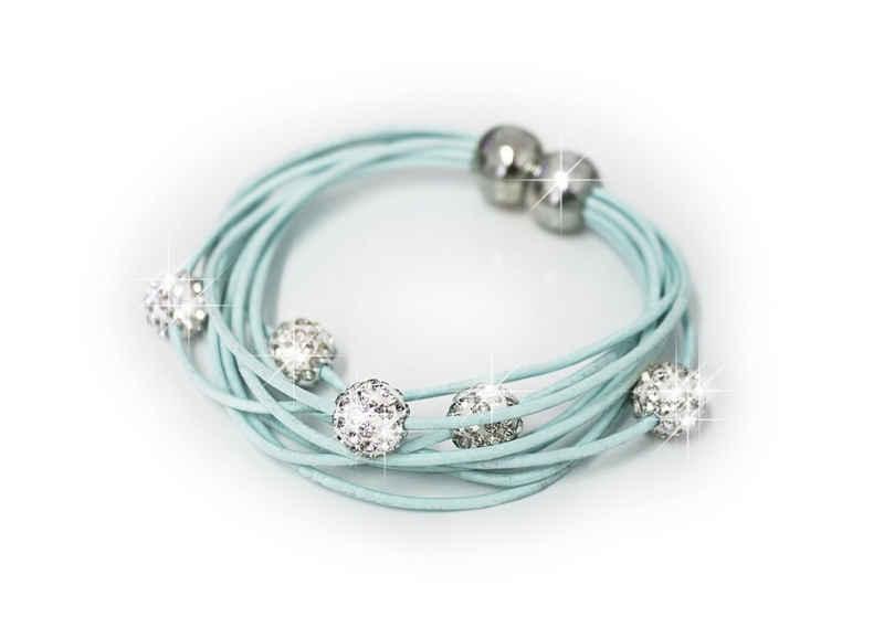 MyBeautyworld24 Armband »Armband Shamballa mit 5 Strasskugeln in vielen Trendfarben«