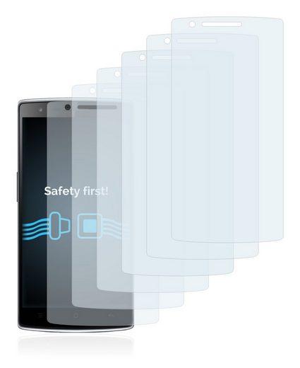 Savvies Schutzfolie »für OnePlus One«, (6 Stück), Folie Schutzfolie klar