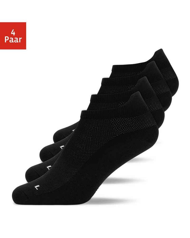 SNOCKS Laufsocken »Running Socks Herren & Damen« (4-Paar) kein Verrutschen durch Fersenlasche, schützt vor Blasen