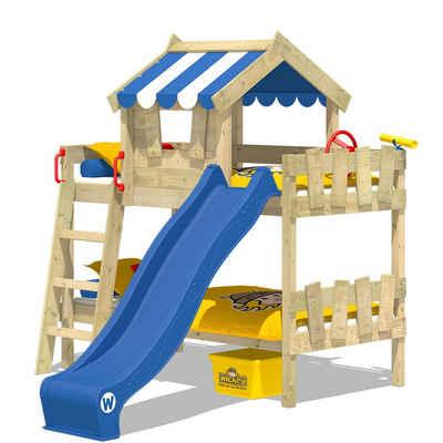 Wickey Kinderbett »Hochbett Crazy Circus mit Rutsche Hausbett 90 x 200 cm, Etagenbett«
