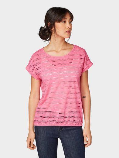 TOM TAILOR T-Shirt »T-Shirt mit Struktur«