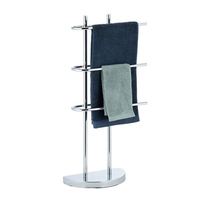 relaxdays Handtuchständer »Handtuchhalter Chrom dreiarmig«