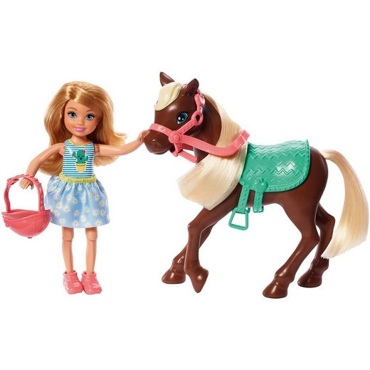 Mattel® Barbie Chelsea Puppe & Pony (blond)