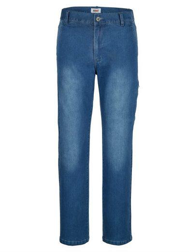 Roger Kent Jeans mit Reißverschlusstasche am Bein