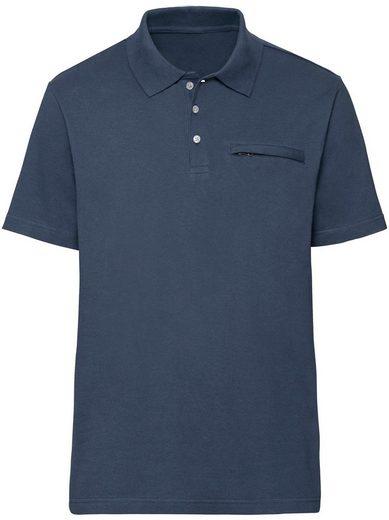 Classic Poloshirt mit geripptem Kragen