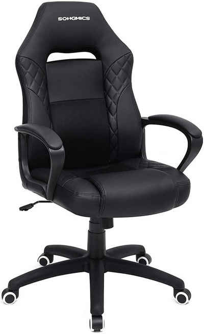 SONGMICS Chefsessel »OBG38BG OBG38BK«, Bürostuhl, Gaming Stuhl, Kunstleder, 70 x 64 x 106-116 (L x B x H)