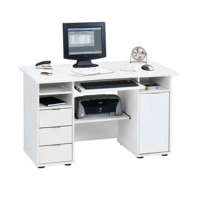 Pharao24 Computertisch »Malinsia«, mit Stauraum, mit Tastaturauszug