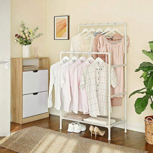 SONGMICS Kleiderständer »RDR01WT RDR001G02«, Garderobenständer aus Metall, weiß