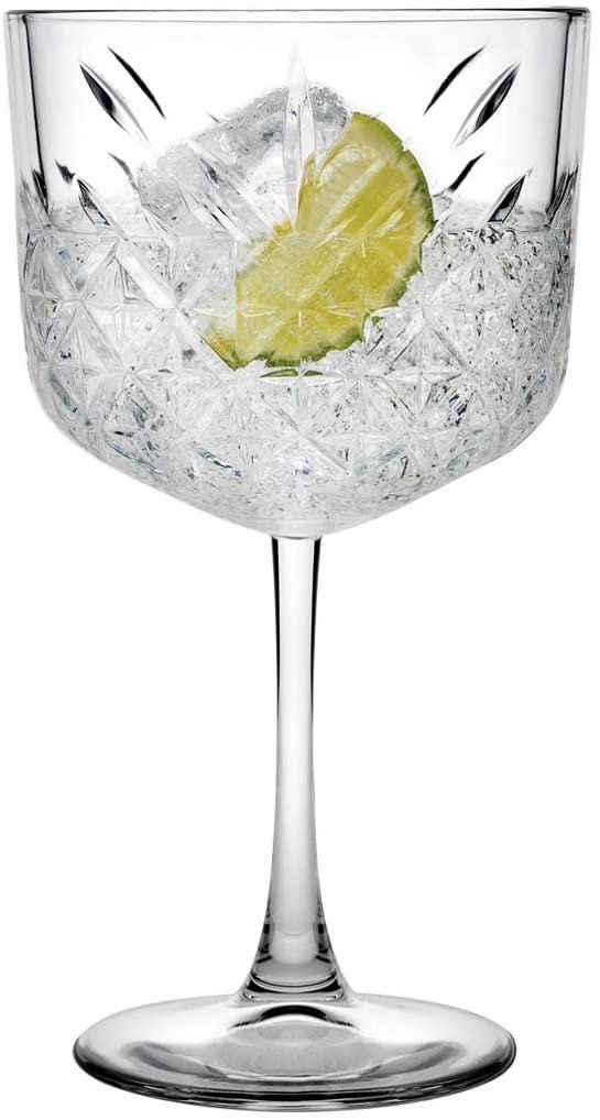 "Pasabahce Cocktailglas »440237 Gin Cocktail Glas ""Timeless"" im Kristall-Design, Höhe ca. 20 cm, 4er Set aus Glas«"