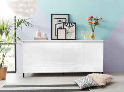 KITALY Sideboard »Genio«, Breite 184 cm, mit wendbare Blende
