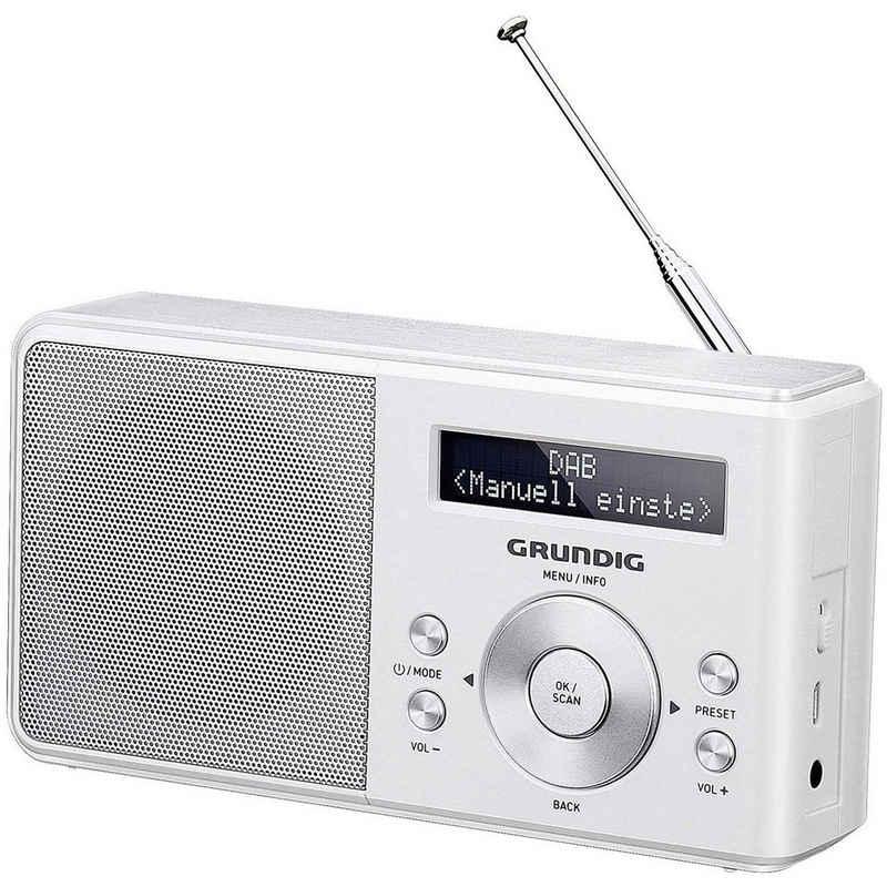 Grundig »Music 5000 DAB+« Digitalradio (DAB) (DAB/DAB+, UKW, PLL - Frequenz - Synthesizer - Abstimmung, Radio Daten System RDS, RDS -Radiotext, LC-Display, Netz- & Batteriebetrieb)