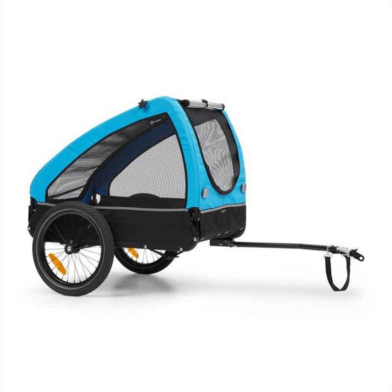 KLARFIT Fahrradkinderanhänger »Husky Fahrrad-Hundeanhänger ca. 250L 600D Oxford Canvas blau«