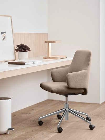 Stressless® Schreibtischstuhl »Laurel«, Low Back mit Armlehne, Größe L, mit Home Office Gestell in Chrom glänzend
