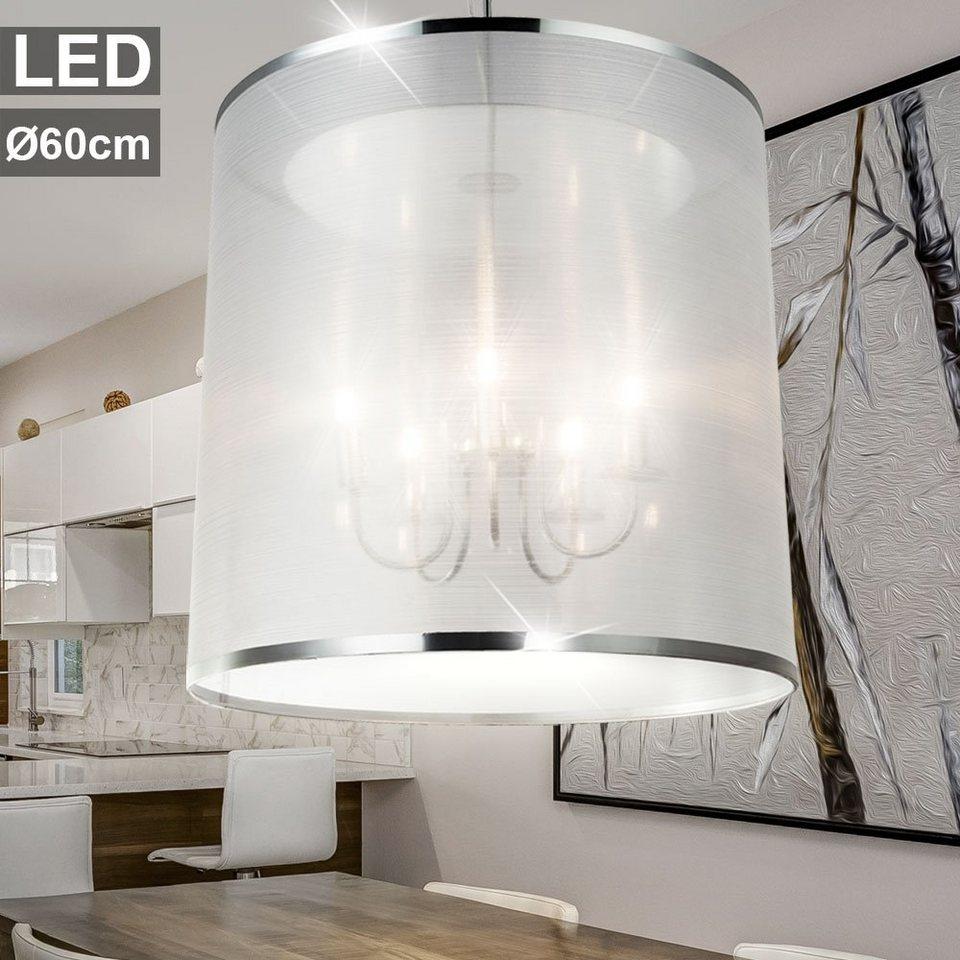 LED Design Decken Hänge Lampe Chrom Küchen Glas Strahler Leuchte Pendel Lüster