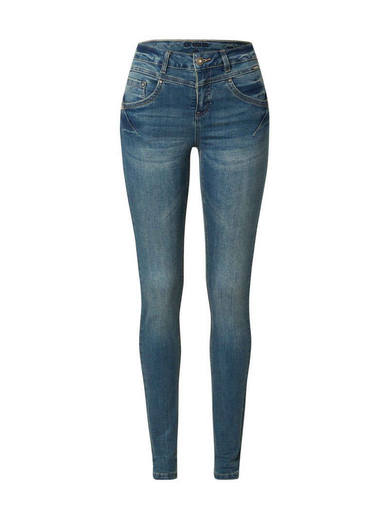 Cream Slim-fit-Jeans