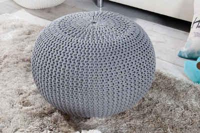 riess-ambiente Sitzhocker »LEEDS FARBWAHL 50cm«, mit Bezug aus Baumwolle
