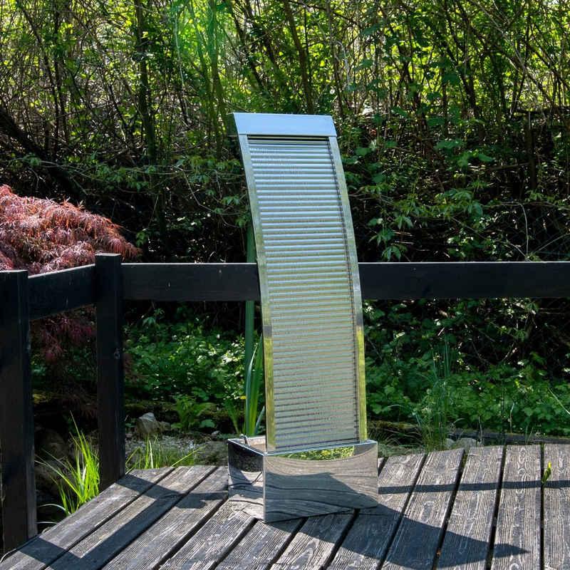 Köhko Zimmerbrunnen »Köhko Terrassenbrunnen aus Edelstahl Höhe ca. 110 CM Wasserspiel Gartenbrunnen mit LED-Beleuchtung«