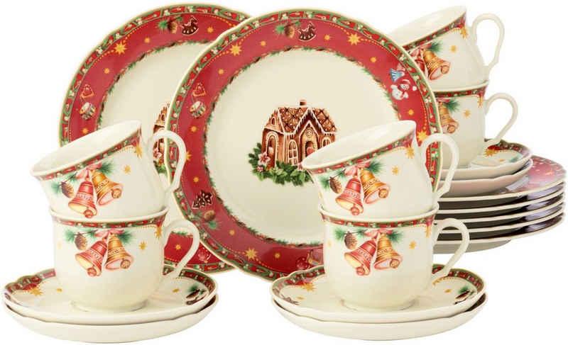 Seltmann Weiden Kaffeeservice »Marie-Luise« (18-tlg), Porzellan, mit weihnachtlichem Dekor