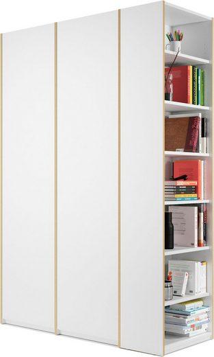 Müller SMALL LIVING Kleiderschrank »Modular Plus Variante 2« inklusive links oder rechts montierbarem Seitenregal