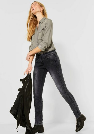 Cecil Slim-fit-Jeans »Charlize« mit extra gesteppter Seitennaht