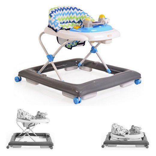 Moni Lauflernhilfe »Lauflernwagen, Gehfrei Eddy«, höhenverstellbar, gepolsteter Sitz mit Spielcenter