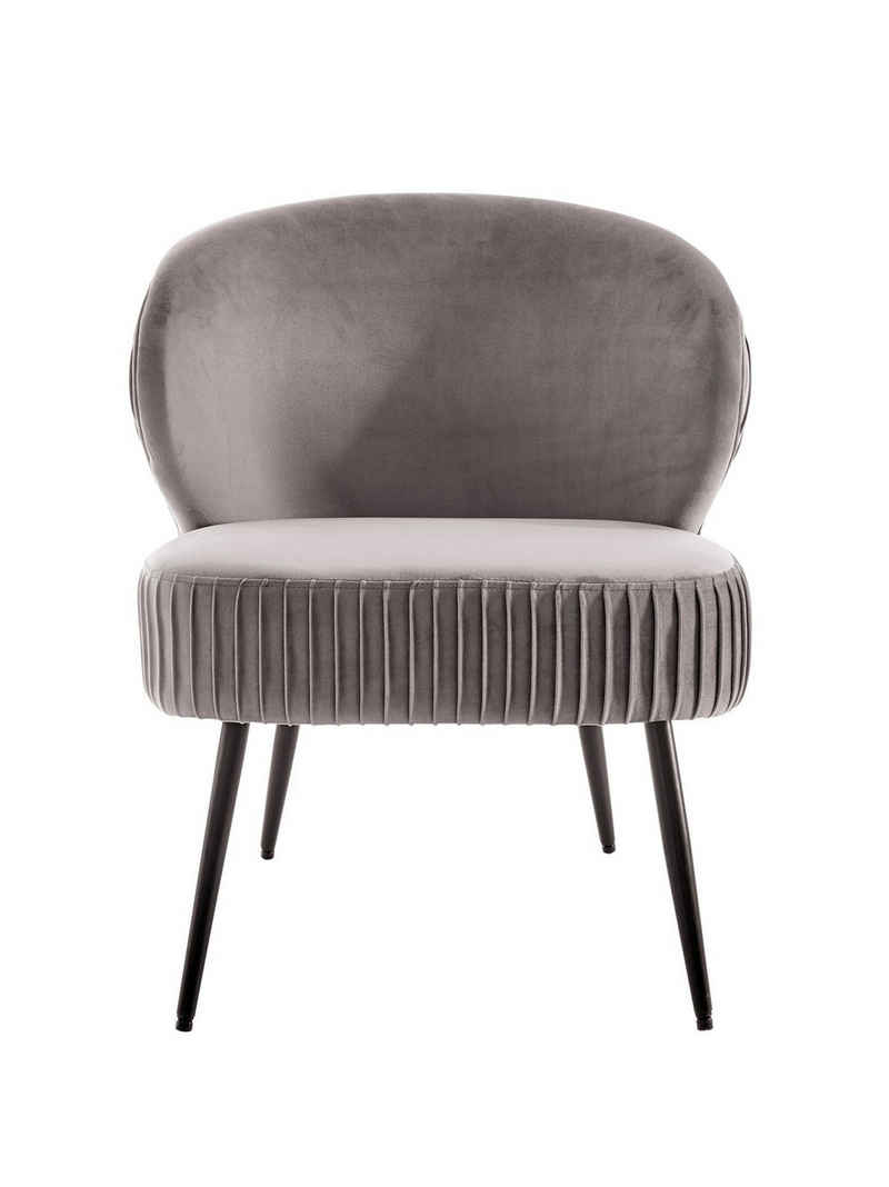 Sessel mit in Falten gelegtem Design