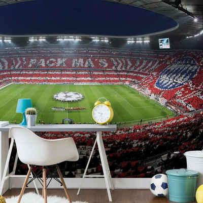 FC Bayern München Fototapete »Große Fußball Fototapete FC Bayern München Pack Mas Vliestapete Allianz Arena«