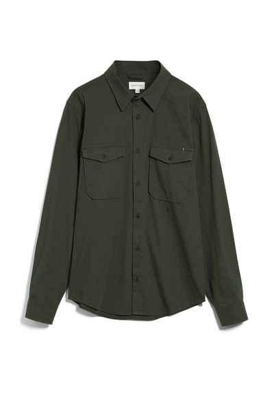 Armedangels Langarmhemd »CAARDO Herren Hemd aus Bio-Baumwolle Relaxed Fit« (1-tlg)