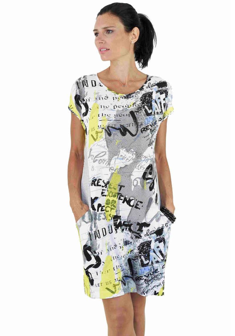 Seidel Moden Jerseykleid mit Allover-Druck-Mix, Made in Germany