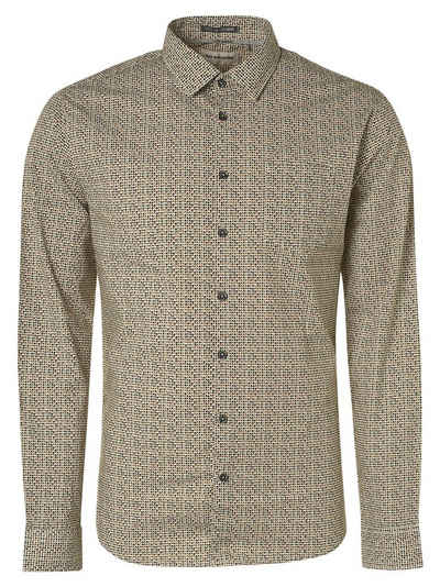 NO EXCESS Langarmhemd »Shirt Stretch Allover Printed«