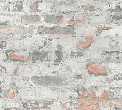 living walls Vliestapete »Metropolitan Stories Paul Bergmann Berlin«, Steinoptik, Backstein in Vintage Optik
