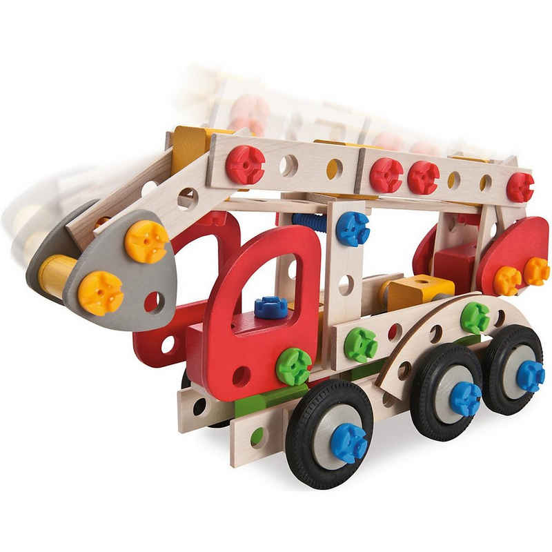 HEROS Konstruktions-Spielset »Constructor Feuerwehrauto, 155-tlg.«