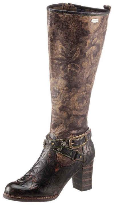 LAURA VITA »ELCEAO« Stiefel mit bedrucktem Schaft