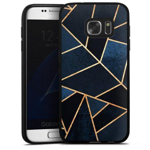 DeinDesign Handyhülle »Navy Stone« Samsung Galaxy S7, Hülle Elisabeth Fredriksson Dreiecke Abstrakt