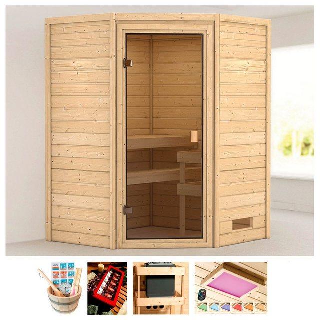 Saunen und Zubehör - KARIBU Sauna »Rügen 1«, 145x145x187 cm, ohne Ofen  - Onlineshop OTTO