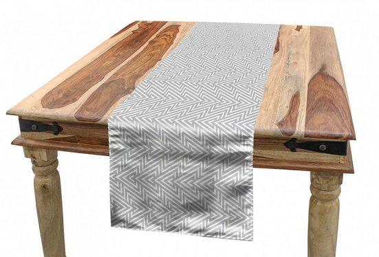 Abakuhaus Tischläufer »Esszimmer Küche Rechteckiger Dekorativer Tischläufer«, grau Geometric Chevron Formen Retro