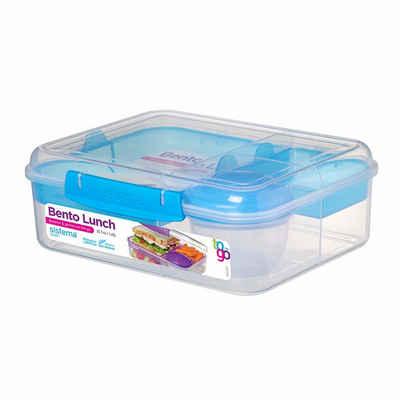 sistema Aufbewahrungsbox »Bento Lunchbox To Go, unterteilt, transparent-blau«, Kunststoff Bisphenol A und Weichmacher frei