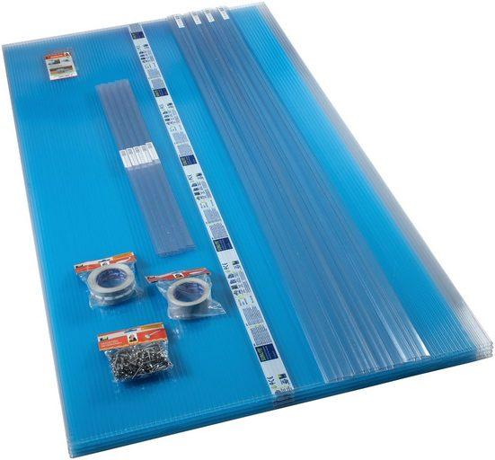 PALRAM Set: Hohlkammerplatte »Sunlite«, 10 mm, 4 Stück á 98x250 cm