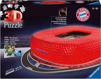 Ravensburger 3D-Puzzle »Allianz Arena Night Edition«, 216 Puzzleteile, Made in Europe, FSC® - schützt Wald - weltweit