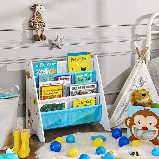 SONGMICS Bücherregal »GKR72WT«, Bücherregal für Kinder, Kinderzimmerregal, Spielzeug-Organizer, weiß