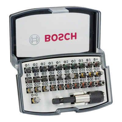 Bosch Professional Bit-Set »32-teiliges Schrauberbit-Set, PH, PZ, H, T und Quick Change-Universalhalter«
