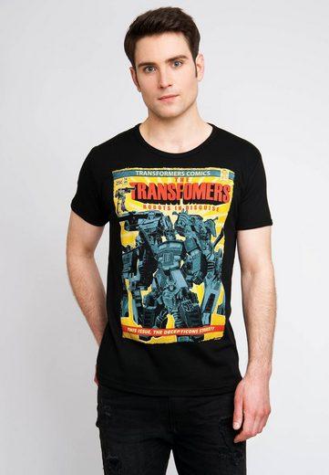 LOGOSHIRT T-Shirt mit großem Transformers-Frontprint