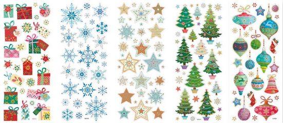 Folia Sticker »Weihnachten«, 5 Blatt