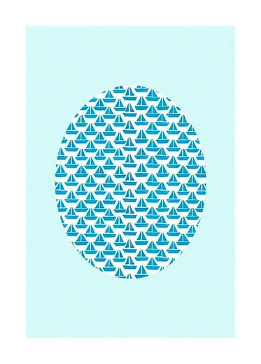 KOMAR XXL Poster »Shelly Patterns Aqua«
