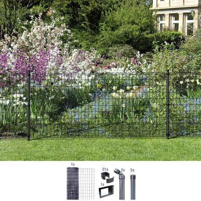 GAH Alberts Schweissgitter »Fix-Clip Pro®«, (Set), 100 cm hoch, 10 m, anthrazit beschichtet, zum Einbetonieren