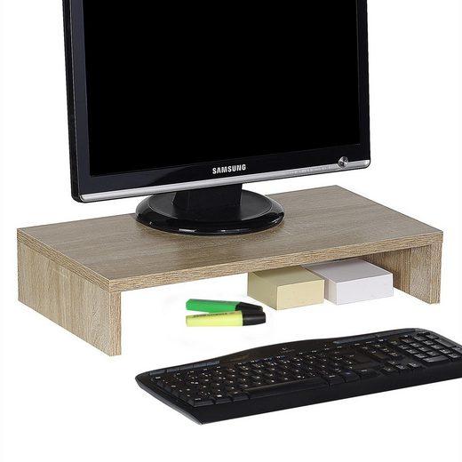CARO-Möbel Schreibtischaufsatz »MONITOR«, Monitorständer Schreibtischaufsatz Monitorerhöhung Bildschirm Aufsatz